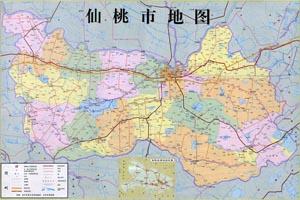 仙桃市行政区划图片